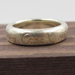 Size 7 Sterling Silver Rustic Coach EST 1941 Ring